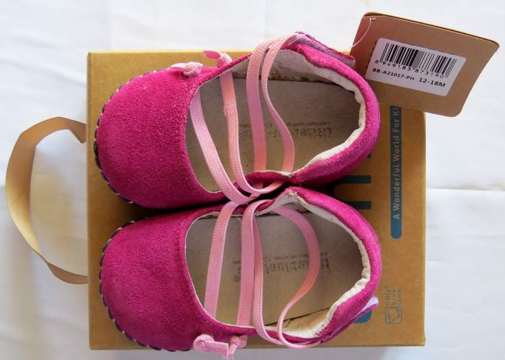 LITTLE BLUE LAMB  GENUINE LEATHER SUEDE LINEN HOT PINK 12-18M BABY GIRLS SHOES  #LittleBlueLamb #CasualShoes