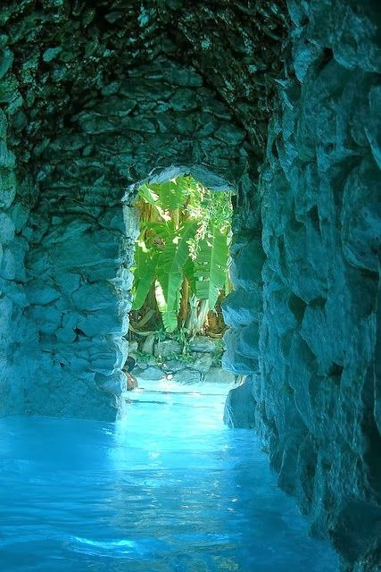 La Gruta Hot Springs, Guanajuato, Mexico. Very much like the underground sea cave at end of road, Kauai