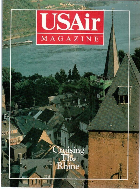 Usair Inflight Magazine October 1992 Route Maps