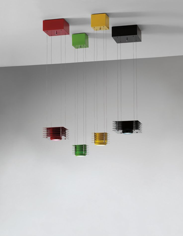 "Ettore Sottsass, Jr., Group of four ""Hikary"" adjustable ceiling lights"