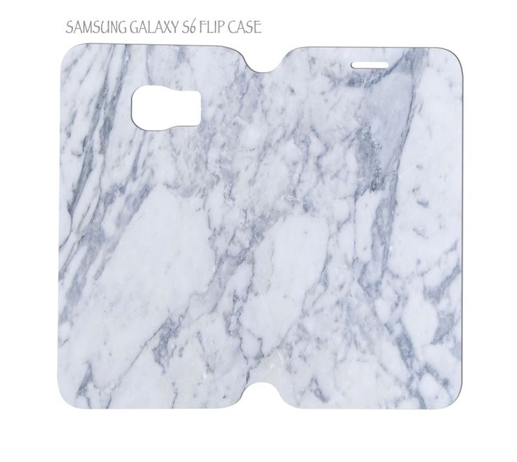 Samsung Galaxy S6 G920 Folio Flip Case Cover White Marble #QuinnCafe