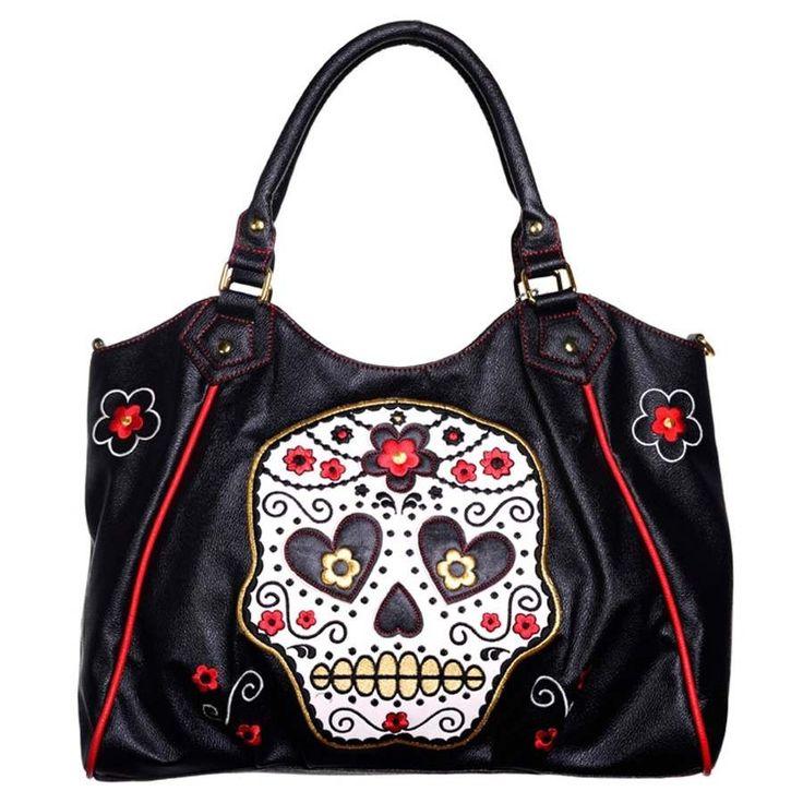 BACK IN STOCK! Sugar Skull Shoulder Bag 💀❤️  #calavera #sugarskull #muerte