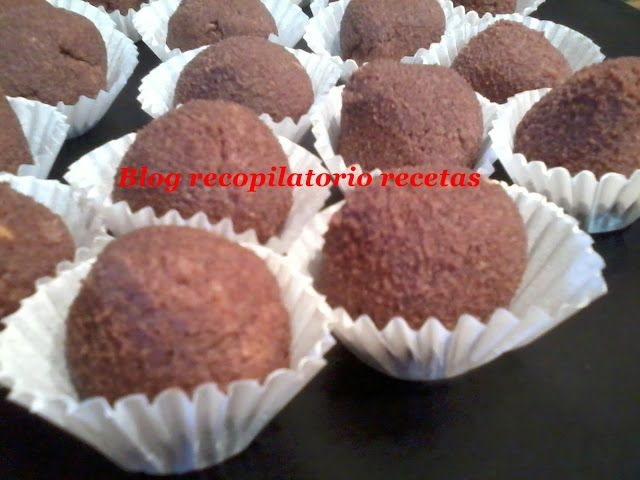 Recopilatorio de recetas : Trufas chocolate y turrón en thermomix
