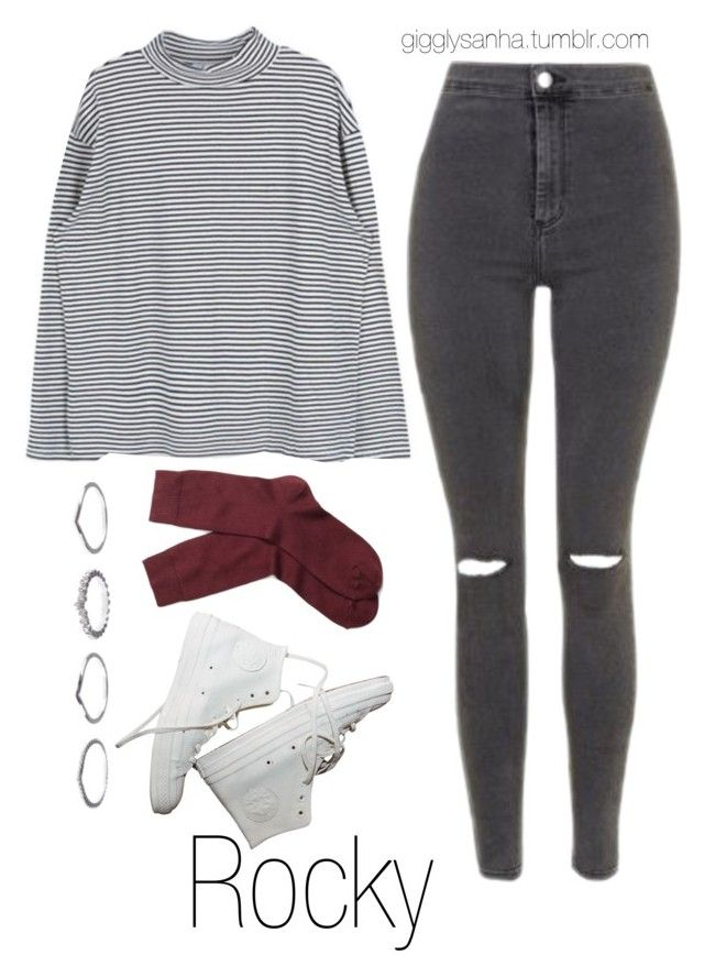 """Coffee Shop // Rocky"" by suga-infires ❤ liked on Polyvore featuring Topshop, Brooks Brothers and New Look"