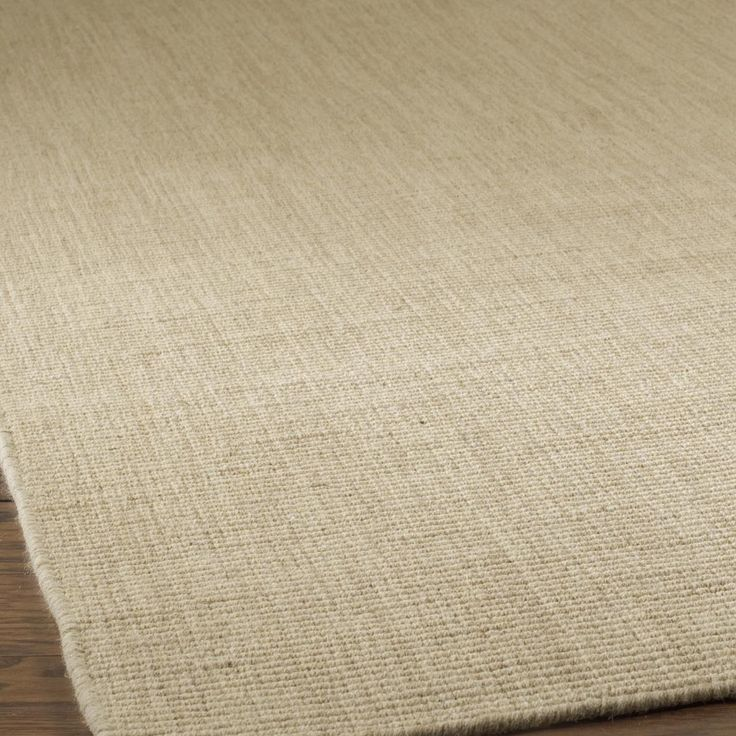 Solid Color Wool Sisal Look Rug 4 Colors