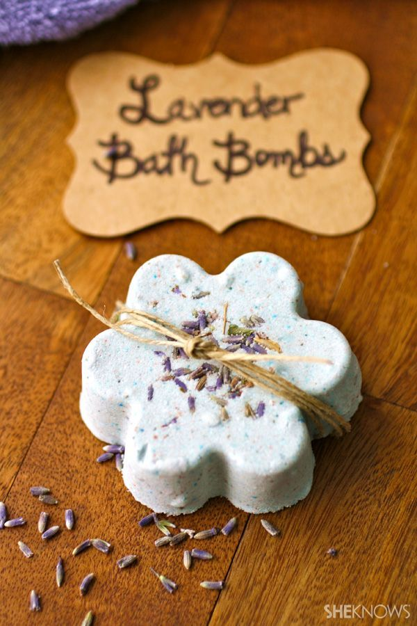 Toss a fizzy bath bomb into your tub!