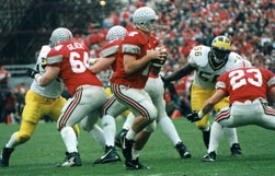 1998  Ohio Stadium - Ohio State 31  Michigan 16.  Ohio State beats Michigan AND wins a BCS Bowl game for the only time in John Cooper's coaching tenure.