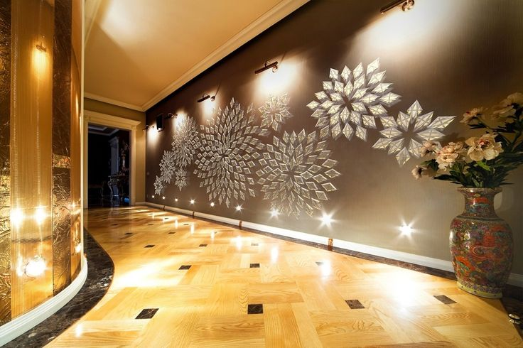 Romance - create an interesting pattern on an empty wall with crystal cut prisms.