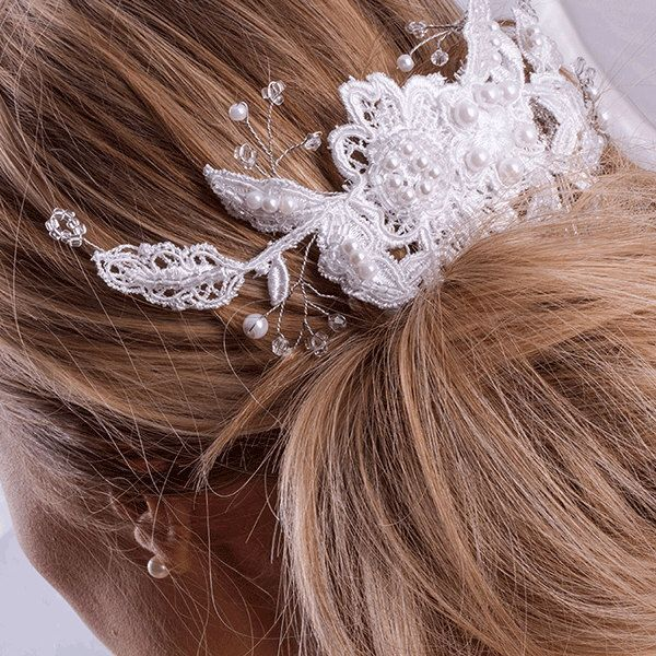 A personal favorite from my Etsy shop https://www.etsy.com/listing/454972476/white-french-guipure-lace-hair-comb