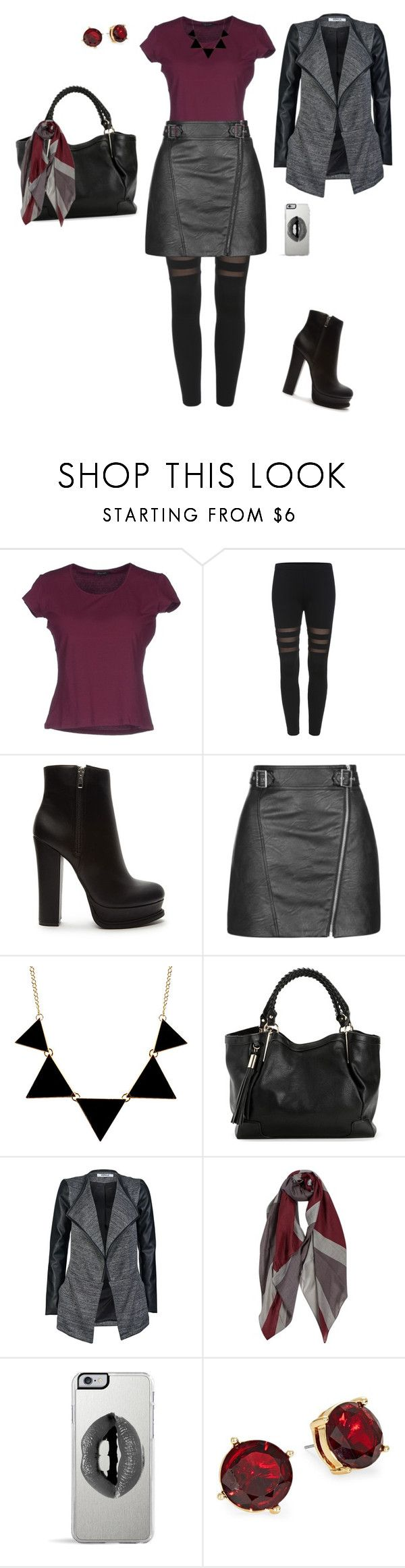 """""""Edgy fall outfit"""" by makeuphobbyist ❤ liked on Polyvore featuring Cruciani, Forever 21, Topshop, ONLY, Lipsy and Lauren Ralph Lauren"""