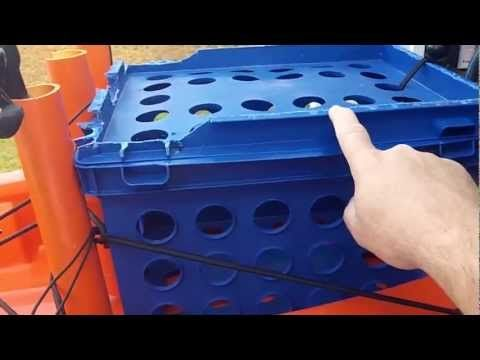 Kayak fishing milk crate!
