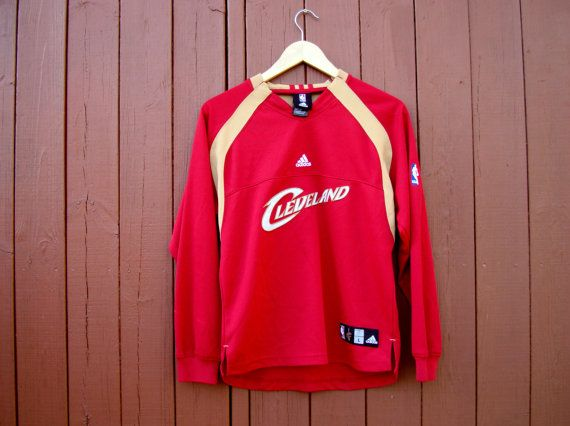 ADIDAS NBA Cleveland Cavaliers shirt, basketball jacket, retro sport jumper, womens size Large