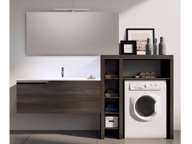 Modulares Waschküche-Schrank mit Spiegel MAKE WASH 03 Kollektion Make by LASA IDEA
