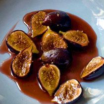 Honey-Roasted Black Mission Figs and Amaretti Whipped Cream