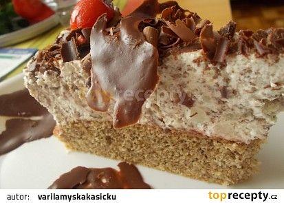 Kávový dort s krémem z ledových kaštanů, kofily a jogurtů recept - TopRecepty.cz