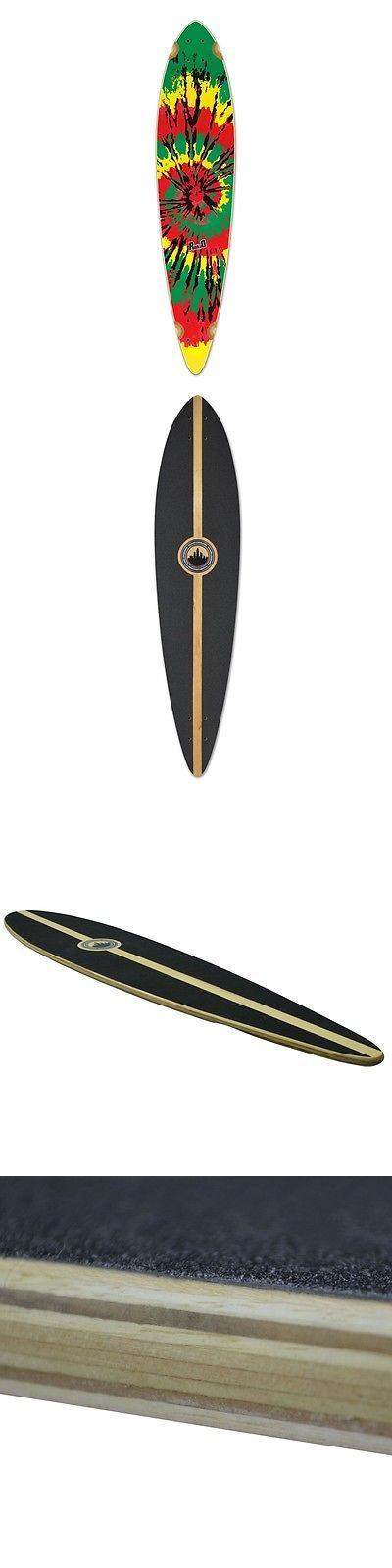 Decks 165944: Yocaher Punked Pintail Tie Dye Rasta Longboard Deck -> BUY IT NOW ONLY: $52.99 on eBay!