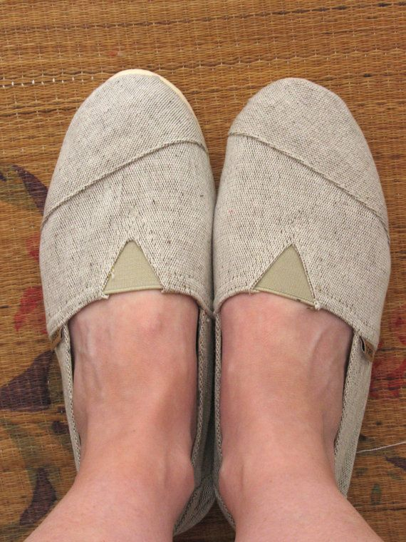 Natural espadrilles. Paez slip on shoes. by SwanDiveVintage, $25.00