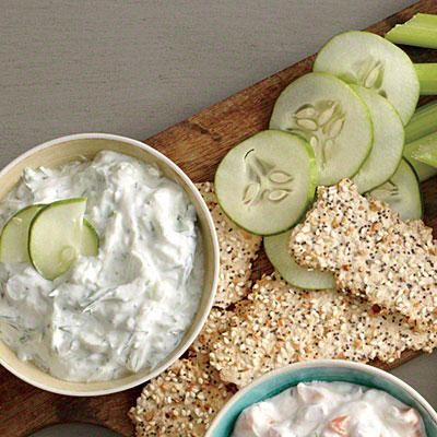 Cucumber and Dill Dip—a great appetizer and satisfying snack | CookingLight.com