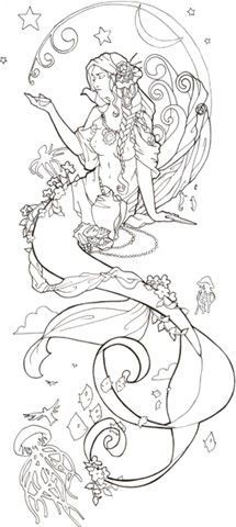 mermaid tattoo ideas - Google Search.  With sand dollar or or open clam with pearl or mirror in hand. Sand dollar on necklace?