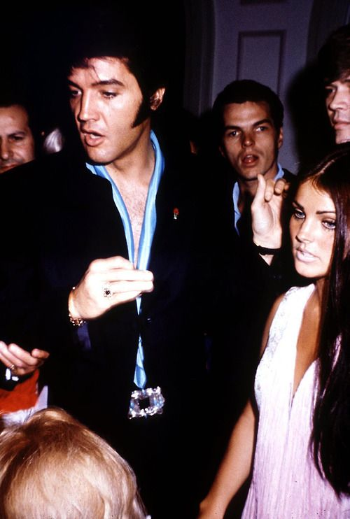 pretty sure the only person who could upstage elvis in a photo is priscilla