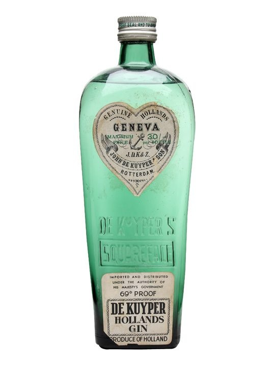 De Kuyper Geneva / Hollands Gin / Bot.1960s