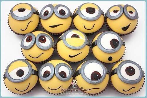 Minion Cupcakes #DespicableMe #DespicableMe2 #dessert #movie #fun #minions via ComedyMinins on Twitter