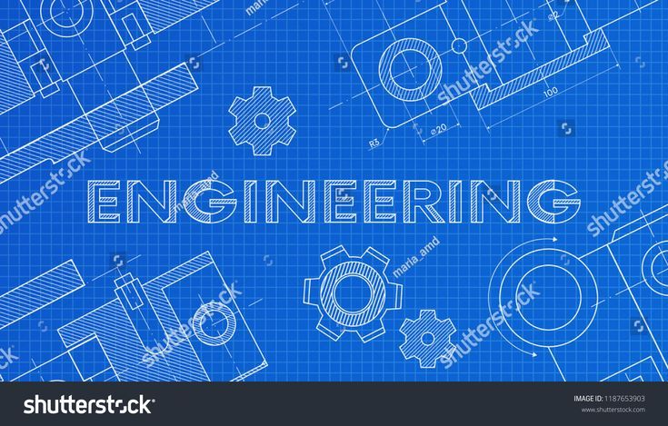 Mechanical Engineering Drawings Technical Drawing Abstract Technology Backgroun Mathematics Education Engineering Science Engineering