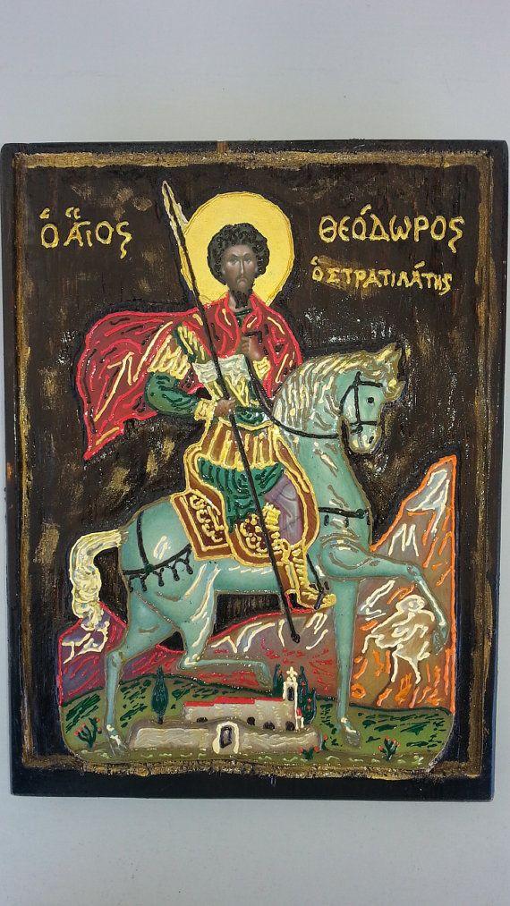 Saint Theodoros  : Άγιος Θεόδωρος ο Στρατηλάτης by Icondimiourgia