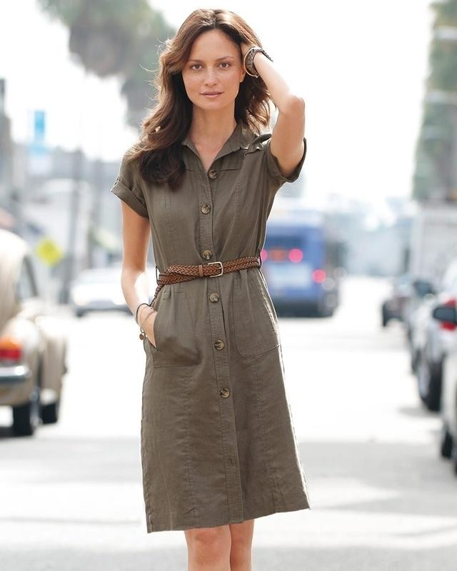 Linen shirt dress    I need this dress.