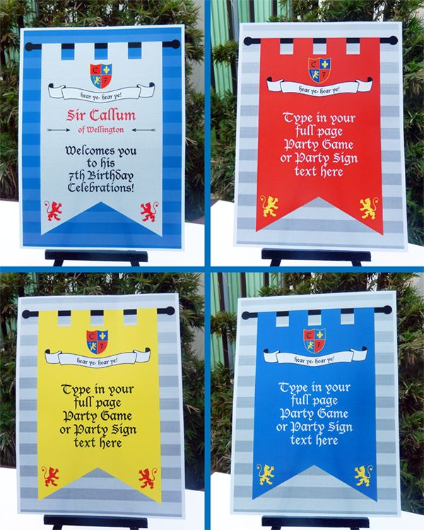 Knight Party Printables Invitations Decorations