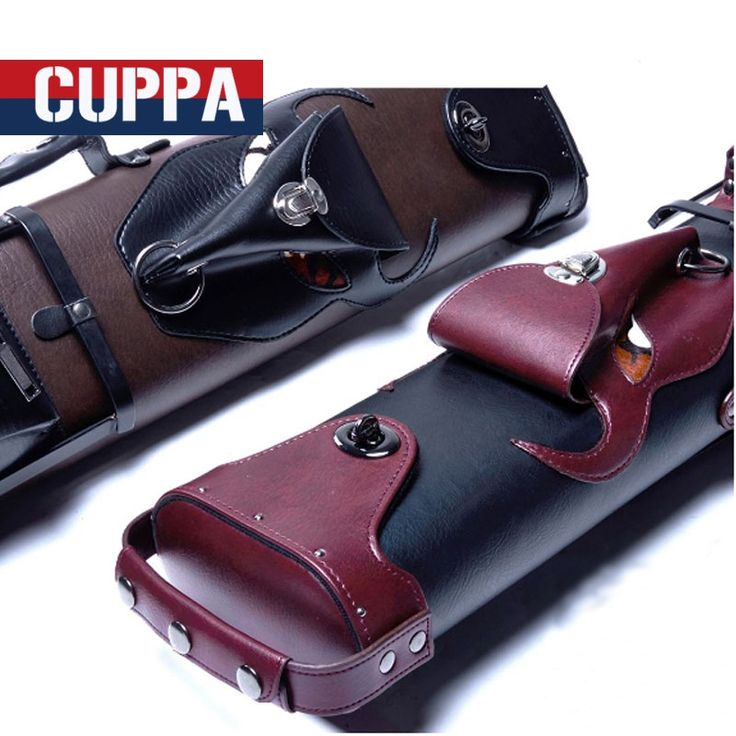 137.54$  Buy here - http://aiaqa.worlditems.win/all/product.php?id=32801723148 - New Cuppa 2 Butts 4 Shafts Pool Cue Case 6 Holes Bull Head Style Red Brown Colors Two Options Billiard Accessories China 2017