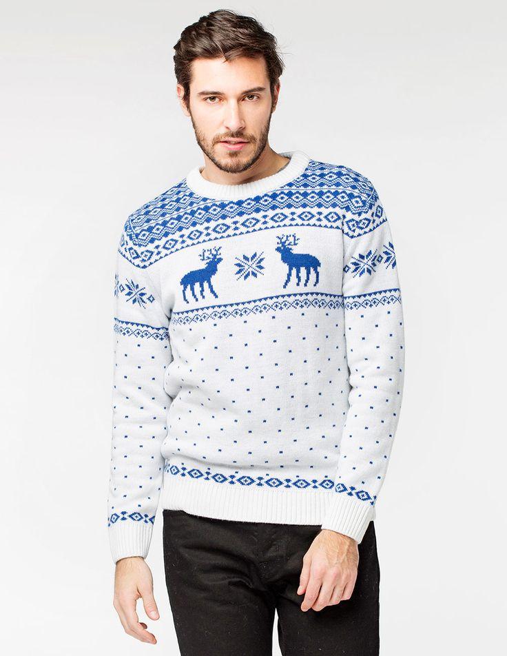 Купить мужской свитер с оленями - tepliezveri.ru