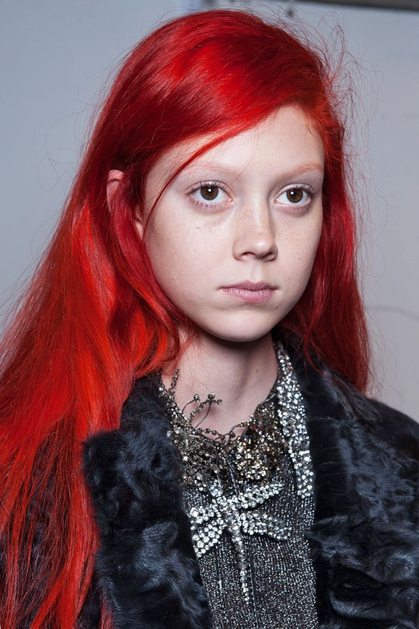 "Natalie Westling%0A%0A%0AWestling is a model-on-the-rise who changed her color completely at the request of Marc Jacobs. ""It's true red,"" says Friedman. And, even though it's clearly the result of a salon visit, it still looks incredibly, shockingly cool."
