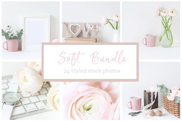 Soft Bundle of 24 Lovely Images by White Nova Studio on @creativemarket