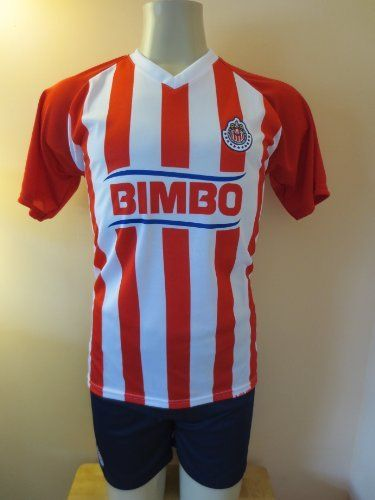 """CHIVAS GUADALAJARA SOCCER KIDS SETS JERSEY & SHORT SIZE 6 .NEW by MERKUR. $19.95. NEW CHIVAS DE GUADALAJARA SOCCER KIDS SET size 6 A MUST HAVE FOR A REAL SOCCER FAN! BRAND NEW IN BAG SIZE 6 FOR 3-4 YEARS 14"""" ARMPIT TO ARMPIT AND 18"""" NECK TO BOTTOM. GORGEOUS SET.EMBROIDERY CHIVAS LOGO. 100% POLYESTER.GREAT QUALITY. FAST SHIPPING VIA USPS 2-4 WORKING DAYS ANYWHERE IN USA."""