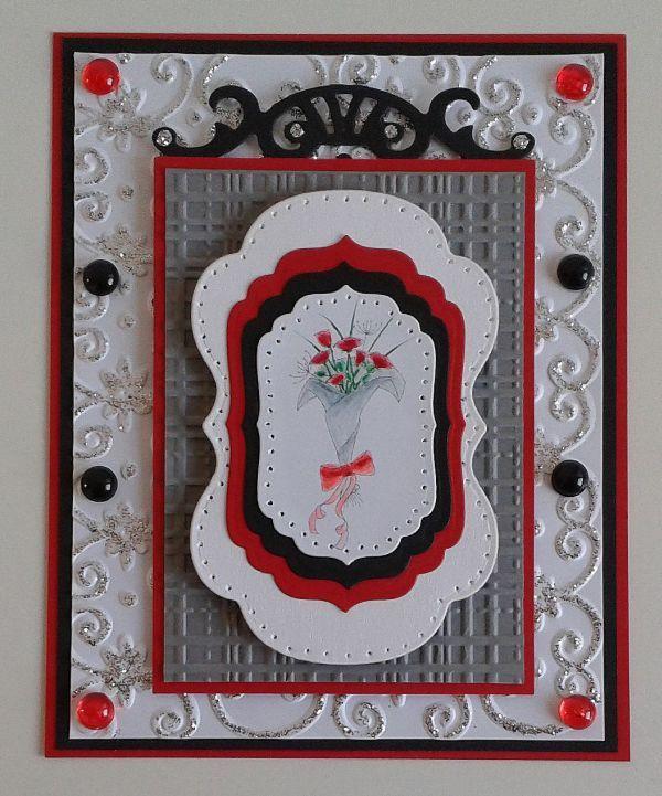 Digi Stamps, Lexi's Creations, Spellbinders, Blumen