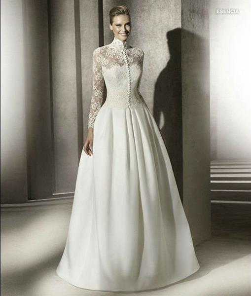 Атласная свадебная юбка