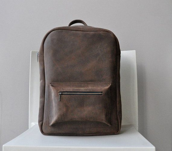 Mens backpack leather backpack backpack purse by MoonshineLeather