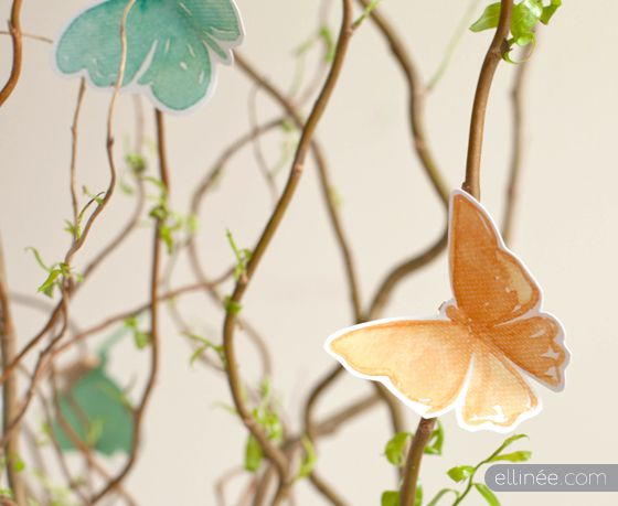 Free printable // Watercolor Butterfly Spring Decor Printable