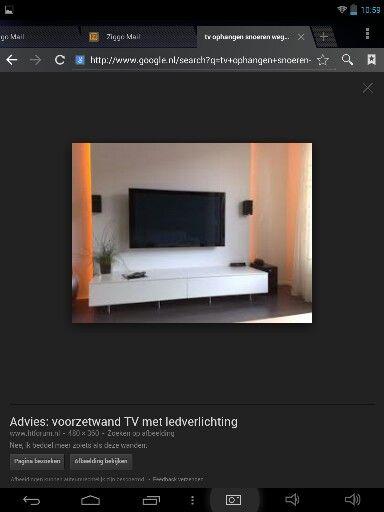 Wand achter tv