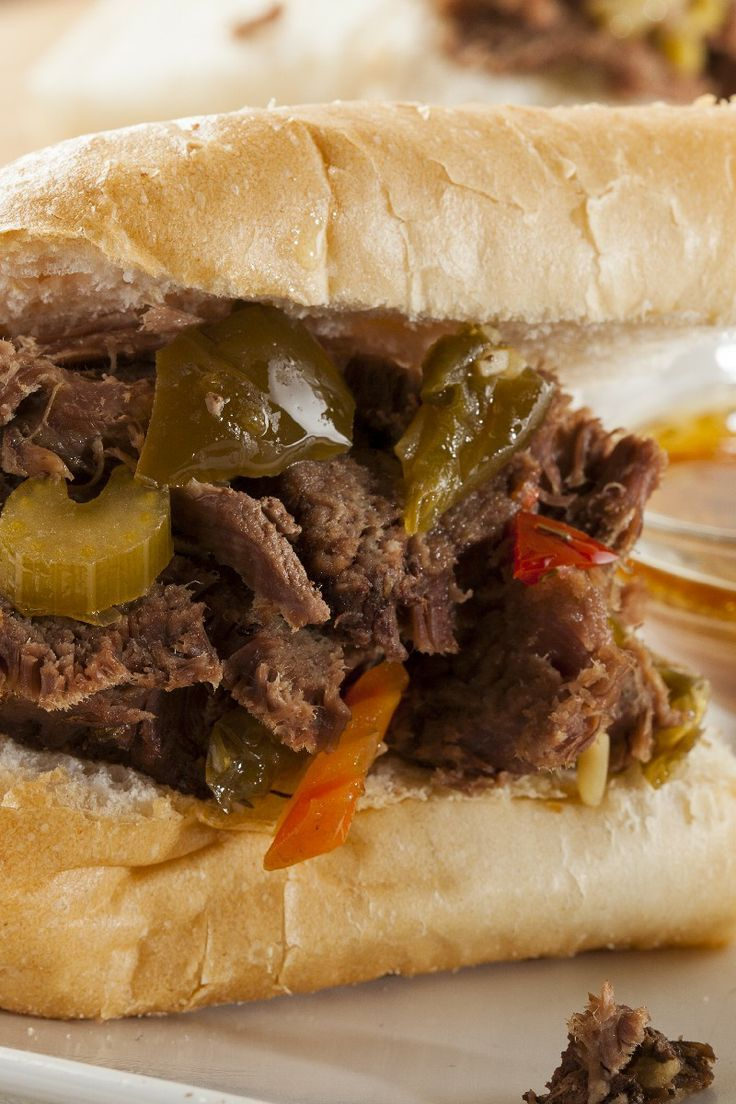 Slow Cooker Italian Beef for Sandwiches | yummy yum yum | Pinterest