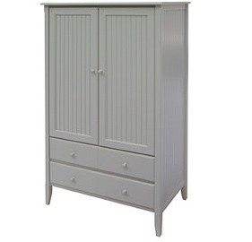 Painted Furniture Barn - Beadboard Armoire (http://www.paintedfurniturebarn.com/beadboard-armoire-large/).  This comes in over 40 fabulous colors!