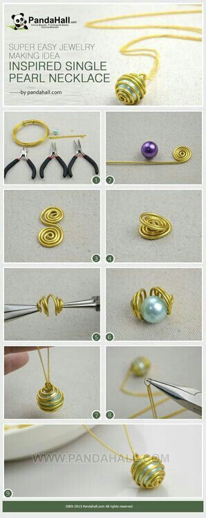 Wire-Wrapped Pearl