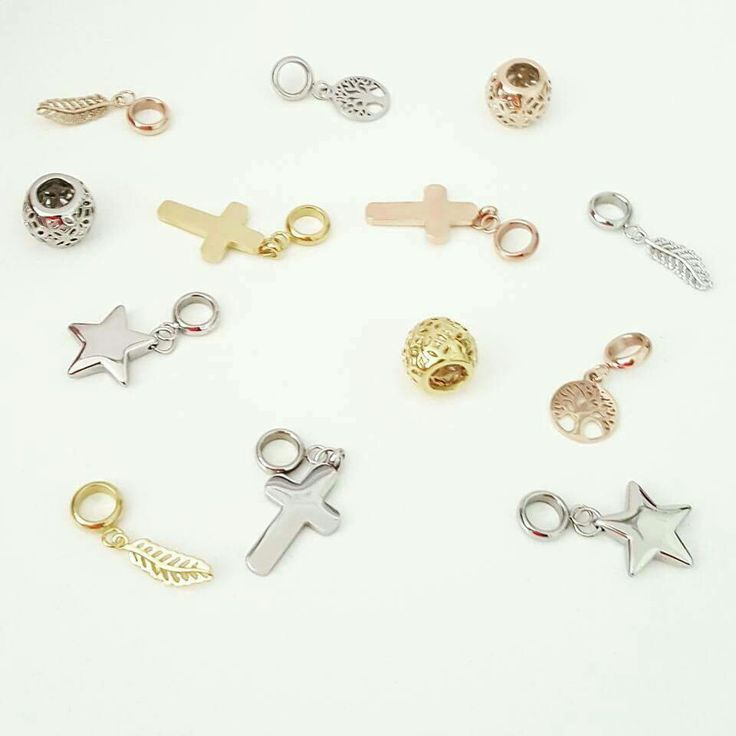 More stainless steel charms to choose from for the leather and ball bracelets.