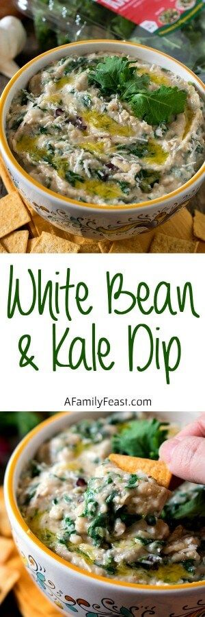 White Bean and Kale Dip - An easy and delicious dip with incredible flavors and full of healthy ingredients! #sponsored
