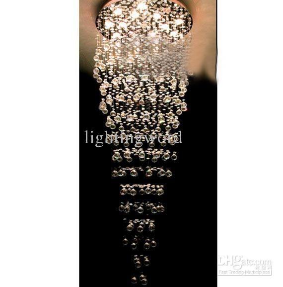High Quality Modern Fashion K9 Crystal Pendant Light Chandelier Dining Room Lamp D700mm X H2050mm