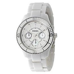 Fossil White Ceramic Multifunction Watch for Women $220