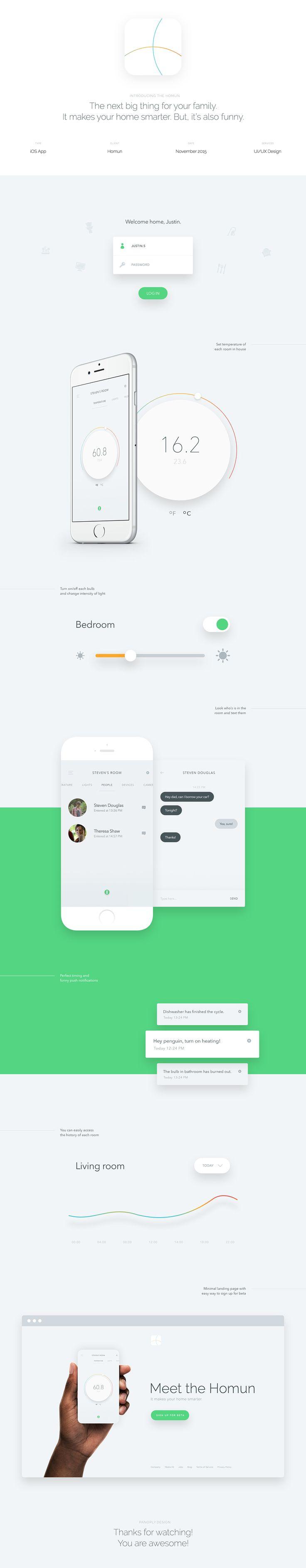 Homun - Makes your home smarter (Part 1) on App Design Served