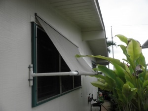 awnings made from pvc and roll up shades