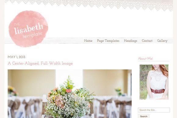 The Lisabeth WordPress Theme by angiemakeswebsites on @creativemarket